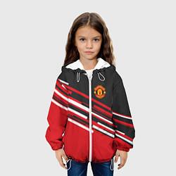 Детская 3D-куртка с капюшоном с принтом Man UTD FC: Sport Line 2018, цвет: 3D-белый, артикул: 10138274105458 — фото 2