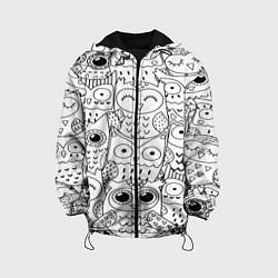 Куртка 3D с капюшоном для ребенка Совушки: узор - фото 1