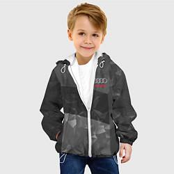 Детская 3D-куртка с капюшоном с принтом AUDI SPORT, цвет: 3D-белый, артикул: 10146298705458 — фото 2