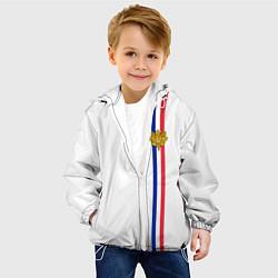 Куртка с капюшоном детская Франция: лента с гербом цвета 3D-белый — фото 2