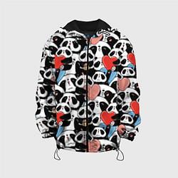 Куртка с капюшоном детская Funny Pandas цвета 3D-черный — фото 1