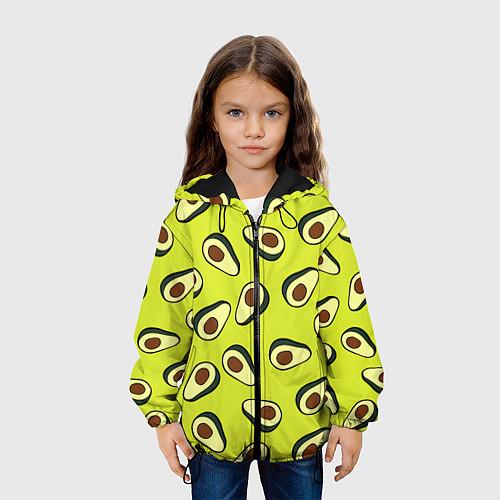 Детская куртка Стиль авокадо / 3D-Черный – фото 3