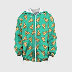 Куртка с капюшоном детская Стиль пиццы цвета 3D-белый — фото 1