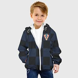 Куртка с капюшоном детская Сборная Хорватии: Гостевая ЧМ-2018 цвета 3D-белый — фото 2