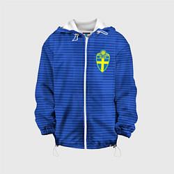 Куртка с капюшоном детская Сборная Швеции: Гостевая ЧМ-2018 цвета 3D-белый — фото 1