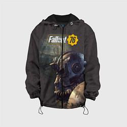 Детская 3D-куртка с капюшоном с принтом Fallout 76, цвет: 3D-черный, артикул: 10154601305458 — фото 1