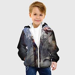 Детская 3D-куртка с капюшоном с принтом ANTHEM, цвет: 3D-белый, артикул: 10156077905458 — фото 2