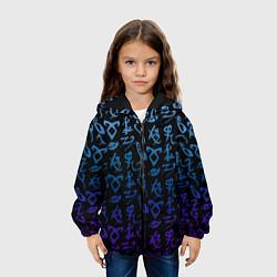 Куртка с капюшоном детская Blue Runes цвета 3D-черный — фото 2