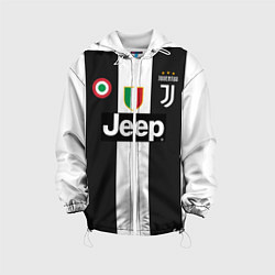 Куртка с капюшоном детская FC Juventus 18-19 цвета 3D-белый — фото 1