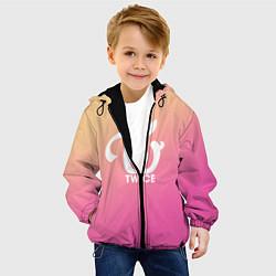 Детская 3D-куртка с капюшоном с принтом TWICE, цвет: 3D-черный, артикул: 10192830905458 — фото 2