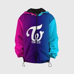 Детская 3D-куртка с капюшоном с принтом TWICE, цвет: 3D-черный, артикул: 10192832305458 — фото 1