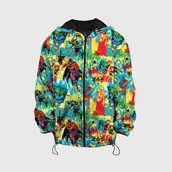 Детская 3D-куртка с капюшоном с принтом Batman and Joker, цвет: 3D-черный, артикул: 10194534305458 — фото 1