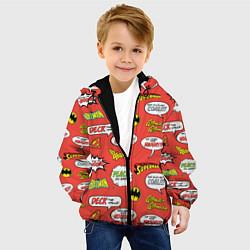Детская 3D-куртка с капюшоном с принтом DC comics logos, цвет: 3D-черный, артикул: 10194810105458 — фото 2