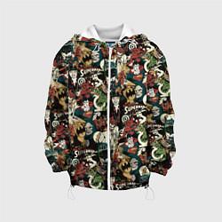 Детская 3D-куртка с капюшоном с принтом Justice League, цвет: 3D-белый, артикул: 10198762905458 — фото 1