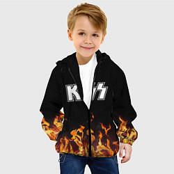Куртка с капюшоном детская Kiss: Hell Flame цвета 3D-черный — фото 2