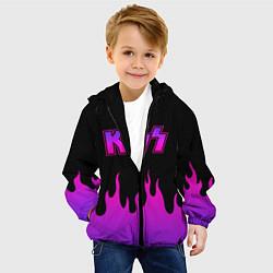 Детская 3D-куртка с капюшоном с принтом KISS, цвет: 3D-черный, артикул: 10204548505458 — фото 2