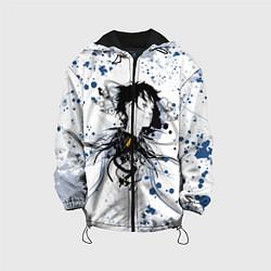 Детская 3D-куртка с капюшоном с принтом Призрак в доспехах, цвет: 3D-черный, артикул: 10205660505458 — фото 1