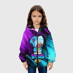 Куртка 3D с капюшоном для ребенка BRAWL STARS LEON SHARK - фото 2