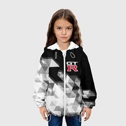 Детская 3D-куртка с капюшоном с принтом NISSAN GTR, цвет: 3D-белый, артикул: 10208574105458 — фото 2