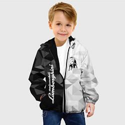 Куртка с капюшоном детская Lamborghini цвета 3D-черный — фото 2