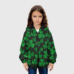 Куртка 3D с капюшоном для ребенка День святого Патрика Клевер - фото 2