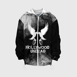 Детская 3D-куртка с капюшоном с принтом Hollywood Undead, цвет: 3D-белый, артикул: 10213544105458 — фото 1