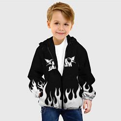 Детская 3D-куртка с капюшоном с принтом Black Sabbath, цвет: 3D-черный, артикул: 10213958505458 — фото 2