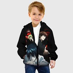 Куртка с капюшоном детская Death Note цвета 3D-черный — фото 2