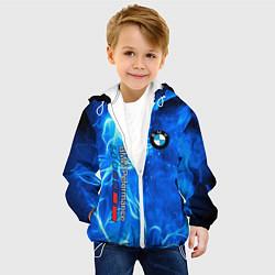 Куртка с капюшоном детская BMW цвета 3D-белый — фото 2