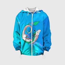 Детская 3D-куртка с капюшоном с принтом Унесенные призраками Хаку, цвет: 3D-белый, артикул: 10251836905458 — фото 1