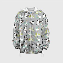 Детская 3D-куртка с капюшоном с принтом Олаф: Холодное сердце, цвет: 3D-белый, артикул: 10253078305458 — фото 1