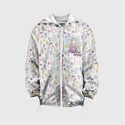 Детская 3D-куртка с капюшоном с принтом Холодное сердце 2, цвет: 3D-белый, артикул: 10253330305458 — фото 1