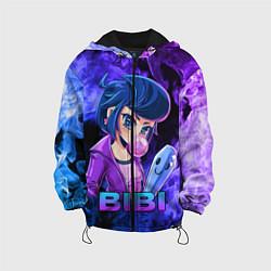 Куртка с капюшоном детская BRAWL STARS BIBI цвета 3D-черный — фото 1