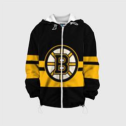 Детская 3D-куртка с капюшоном с принтом BOSTON BRUINS NHL, цвет: 3D-белый, артикул: 10260593305458 — фото 1