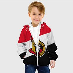 Детская 3D-куртка с капюшоном с принтом Оттава Сенаторз, цвет: 3D-белый, артикул: 10270770705458 — фото 2