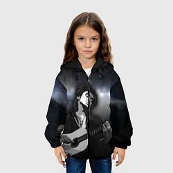 Детская 3D-куртка с капюшоном с принтом КИНО, цвет: 3D-черный, артикул: 10276726305458 — фото 2