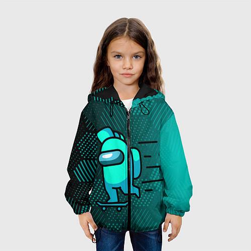 Детская куртка AMONG US / 3D-Черный – фото 3