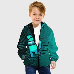 Куртка с капюшоном детская AMONG US цвета 3D-черный — фото 2
