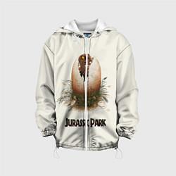 Детская 3D-куртка с капюшоном с принтом Парк Юрского периода, цвет: 3D-белый, артикул: 10279584505458 — фото 1