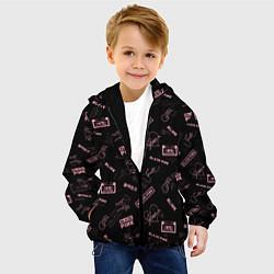 Детская 3D-куртка с капюшоном с принтом BLACKPINK, цвет: 3D-черный, артикул: 10281564905458 — фото 2