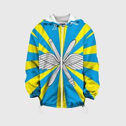 Куртка с капюшоном детская Флаг ВВС цвета 3D-белый — фото 1