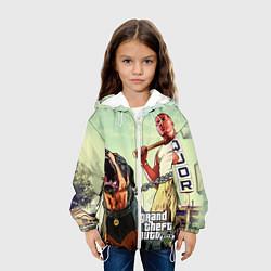 Детская 3D-куртка с капюшоном с принтом GTA 5: Franklin Clinton, цвет: 3D-белый, артикул: 10069769005458 — фото 2
