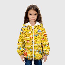 Куртка с капюшоном детская Emoji цвета 3D-белый — фото 2