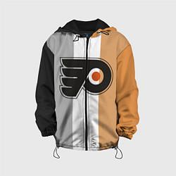 Детская 3D-куртка с капюшоном с принтом Philadelphia Flyers, цвет: 3D-черный, артикул: 10071133105458 — фото 1