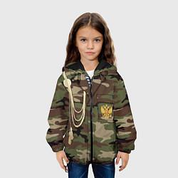 Детская 3D-куртка с капюшоном с принтом Униформа дембеля, цвет: 3D-черный, артикул: 10075051405458 — фото 2