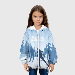 Куртка с капюшоном детская Биатлон цвета 3D-белый — фото 2