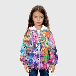 Куртка с капюшоном детская My Little Pony цвета 3D-белый — фото 2
