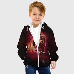 Детская 3D-куртка с капюшоном с принтом Спорт, цвет: 3D-белый, артикул: 10081364305458 — фото 2