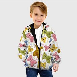 Детская 3D-куртка с капюшоном с принтом Любимые медвежата, цвет: 3D-черный, артикул: 10082083105458 — фото 2
