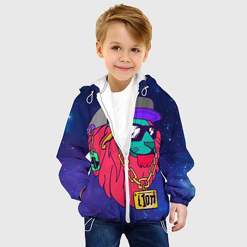 Детская куртка Лев SWAG / 3D-Белый – фото 4